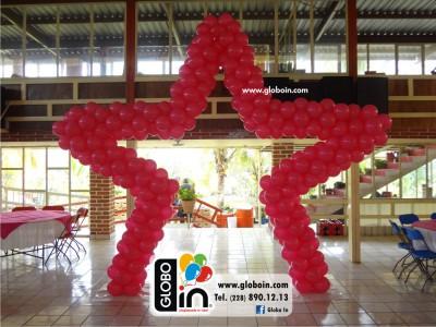 Arco de estrella con globos