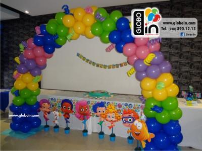 Arco de globos Bublee Guppies