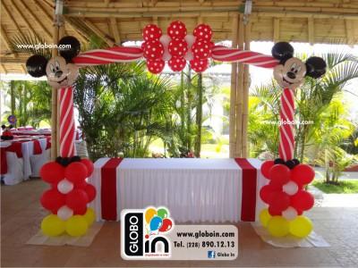 Arco de globos Mickey Mouse
