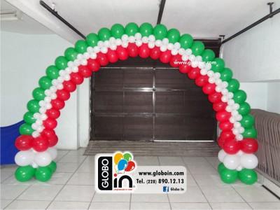 Arco de globos fiestas Patrias