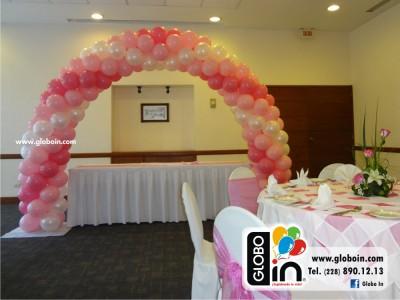 Arco de globos para Nina