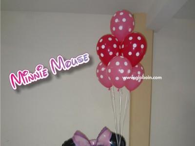 Bouquet de globos Minnie Mouse