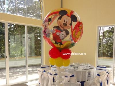 Centro de mesa Mickey Mouse globos