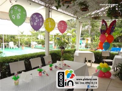 Centro de mesa globos de flores