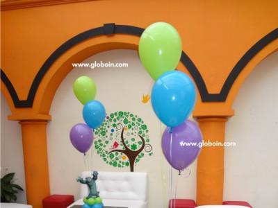 Centro de mesa globos de helio Monster Inc