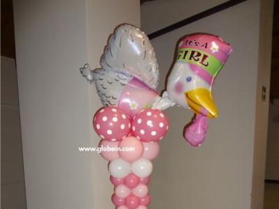 Columna de globos Baby Shower Nina