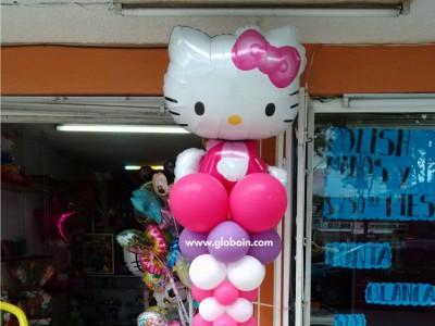 Columna de globos Kitty