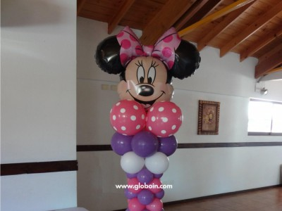 Columna de globos Minnie Mouse
