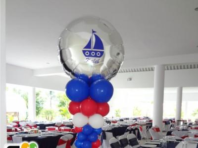 Columna de globos Nautica