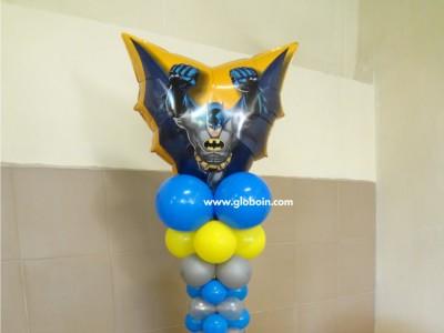 Columna de globos de Batman
