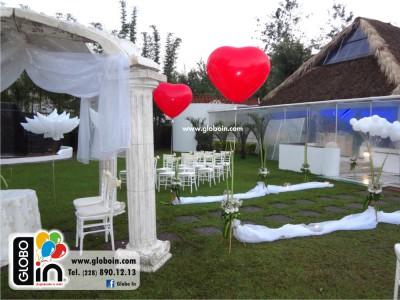 Decoracion con globos para Boda en jardin 3
