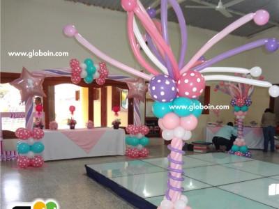 Decoracion con globos para Ninias