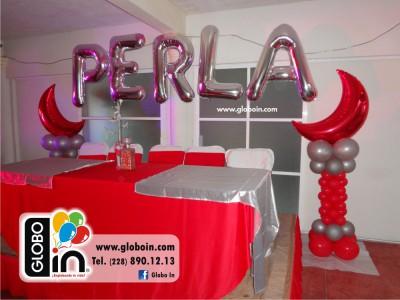 Globos de letras con helio