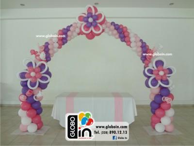 Arco de globos Flores Nina