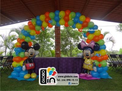 Arco de globos Mickey y Minnie