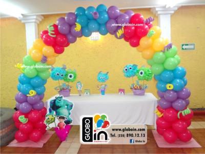 Arco de globos Monster Inc