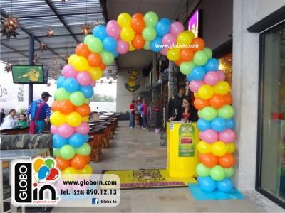 Arco de globos colorido