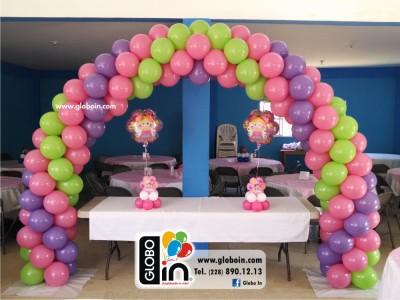 Arco de globos para Ninas