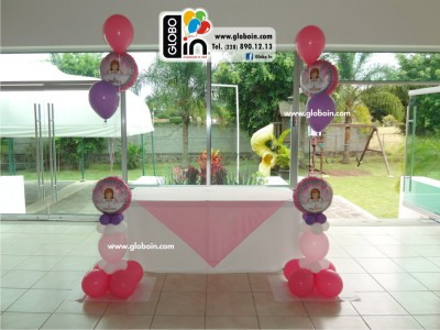 Arreglos de globos para mesa