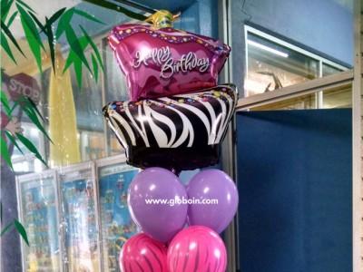 Bouquet de globos Cumpleanos ella