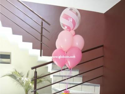 Bouquet de globos de Bautizo
