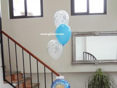 Bouquet de globos de Bautizo Nino