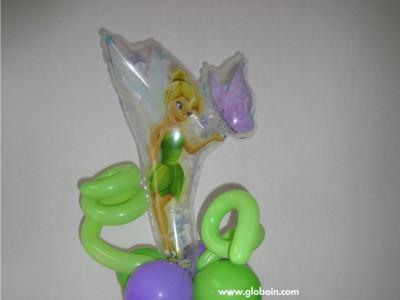 Centro de mesa Tinker Bell globos