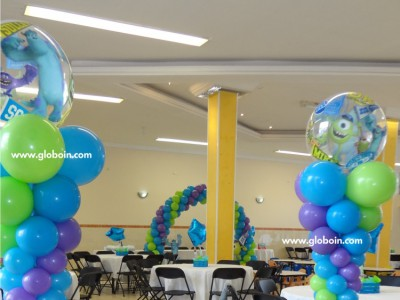 Columna de Globos de Monster Inc