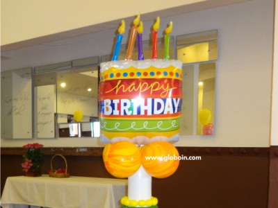Columna de cumpleanios Happy Birthday