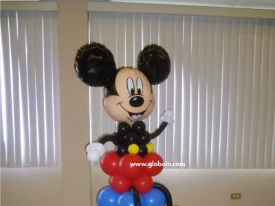 Columna de globos Mickey Mouse sentado