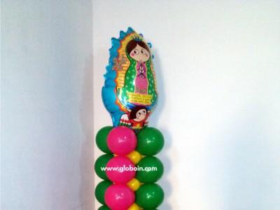 Columna de globos Virgencita Plis