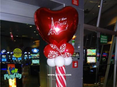 Columna de globos amor