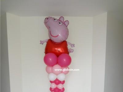 Columna de globos de Peppa Pig 2