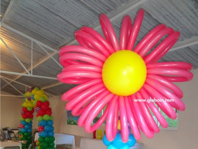 Columna de globos flor gigante