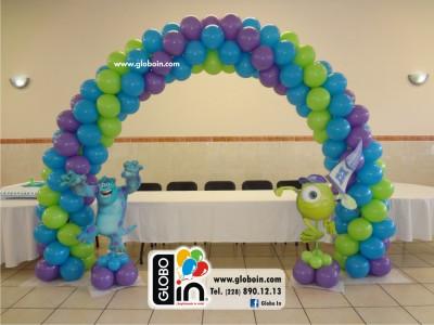 Decoracion con globos Monster Inc