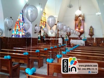 Decoracion con globos en iglesia 2