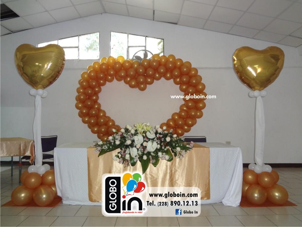Con globos para bodas elegant decoracin para boda con - Decoracion bodas con globos ...