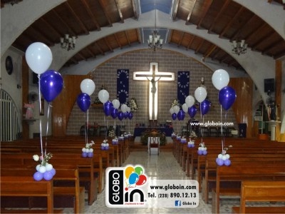 Decoracion de iglesia con globos