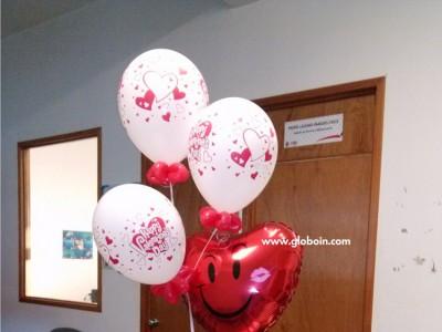 Detalle en globos de amor