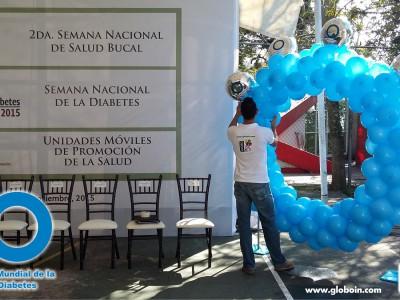 Dia mundial de la diebetes con globos