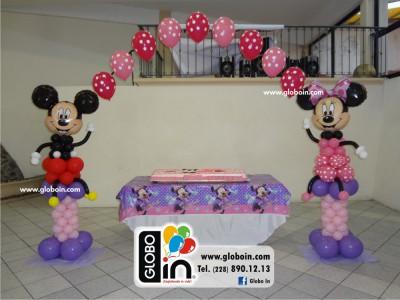 Figuras de Mickey y Minnie Mouse globos