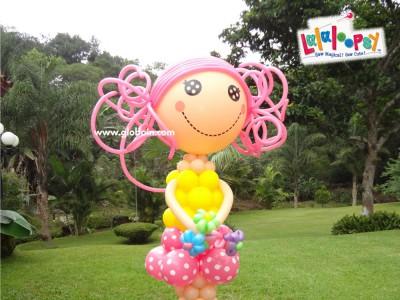 Muneca Lalaloopsy en globos